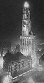 Huge new skyscrapers, like woolworth, were built