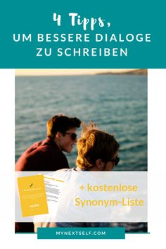 Dialoge schreiben: 5 Tipps, wie Figuren natürlich sprechen - MyNextSelf You can find out here how your dialogues become exciting, funny and authentic - and there is also a free synonym list for practi Writing A Book, Writing Tips, Write Your Own Book, Naturally Speaking, Retirement Quotes, Early Retirement, How To Read People, Funny Photoshop, Write It Down