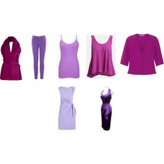 A fashion look from April 2014 featuring Diane Von Furstenberg dresses, Astr tops and Yves Saint Laurent tops. Browse and shop related looks.  TW Purple