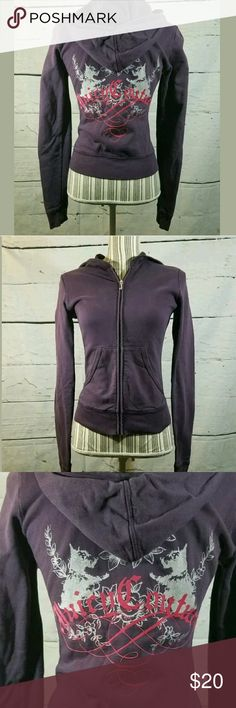 Juicy Couture Hoodie Women's Small Zip Sweatshirt Juicy Couture Hoodie Women's Small Zip Sweatshirt Jacket Purple ---Good used condition. No holes or stains.   17 inches pit to pit.  22.5 inches long.   LB Juicy Couture Tops Sweatshirts & Hoodies