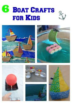6 Boat Crafts for Kids ~ lots of creative boat designs!