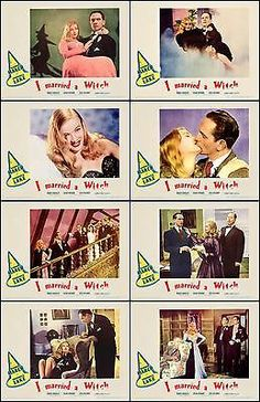 VERONICA LAKE * I MARRIED A WITCH * complete set of 8 * 11x14 LC prints 1942