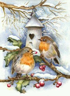 Vintage Christmas Card                                                       …                                                                                                                                                                                 Más