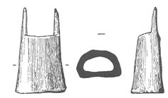 Fig 4 Bone lucet from Thetford, 10th-11th C. (Image: Rogerson et al 1984) Excavations at Thetford uncovered this object, which was positive...