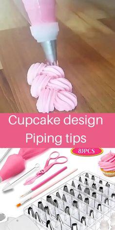 Cake Decorating Piping, Cake Decorating Videos, Cake Decorating Supplies, Cake Decorating Techniques, Cookie Decorating, Cupcakes Design, Cake Designs, Cake Piping, Piping Techniques
