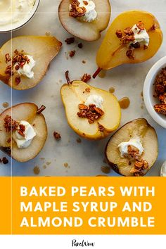 They're easy and elegant, and they come together in just 35 minutes. Best of all, they're practically healthy (but really don't taste like it). Fruit Recipes, Vegetable Recipes, My Recipes, Baking Recipes, Xmas Food, Fall Food, Winter Food, Fall Winter, Crumble Recipe