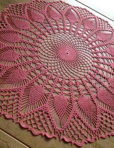 Crochet Lace Doily Centerpiece Pineapple Table Linen Placemat Home Free Crochet Doily Patterns, Crochet Mandala, Crochet Art, Filet Crochet, Crochet Motif, Vintage Crochet, Lace Doilies, Crochet Doilies, Pineapple Crochet