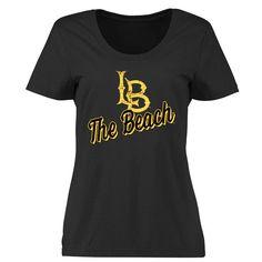 Long Beach State 49ers Women's Plus Sizes Slant Script T-Shirt - Black - $24.99