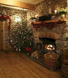 Warm and Cozy Classic Christmas Home Tour Ideas (23)