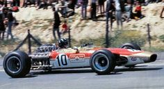 Graham Hill, Lotus 49, on his way to victory at Jarama 1968. After the deaths of Jim Clark at Hockenheim and Mike Spence at Indianapolis practice, this was a welcome bit of good news for Team Lotus.