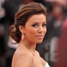 Eva Longoria: Low Chignon - Celebrity Hair How-Tos for Wedding Hair and More - Shape Magazine