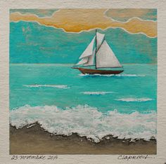Sailing Boat Painting Sailboat Painting Blue sea Small nautical wall art Original art inches acrylic painting within an mount Original Artwork, Original Paintings, Sailboat Painting, Nautical Wall Art, Sailing Boat, Small Paintings, Affordable Art, Online Art, A Team
