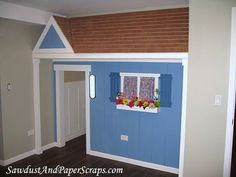 This is absolutely adorable  -  love how a closet under the staircase turned into a special playhouse