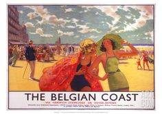Art.fr - Giclée 'The Belgian Coast, SR/LNER, c.1930s'