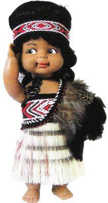 Wahine Maori Doll #62 BX - 20cm  | Shop New Zealand