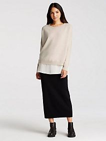 Icon Pencil Skirt in Washable Wool Crepe
