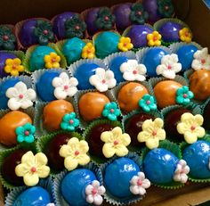 Shades of Color themed Happy Birthday Cake Bites