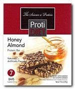 ProtiDiet Protein Bar Square - Honey Almond (7/Box)  The ProtiDiet Honey Almond Square Protein Bar has a great mellow honey taste mixed with savory almonds. ((YUMMY)