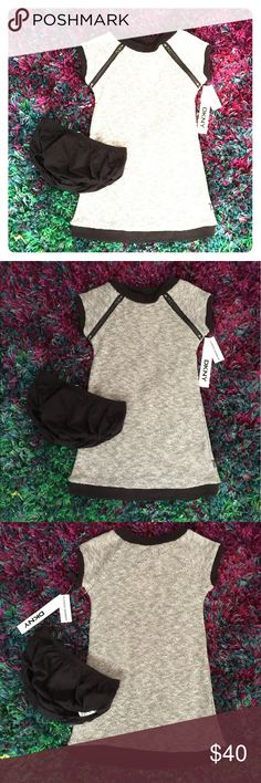 NWT DKNY 2 piece set DKNY size 4 girls dress and bloomers gray and black nwt DKNY Matching Sets