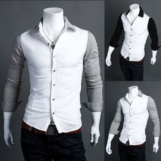 Business Party Funky Cool Leisure White Shirts for Men | Apparels ...