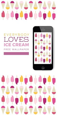 "free wallpaper download ""everybody loves icecream"""