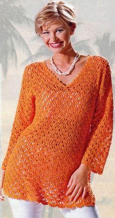 Gráficos de Crochê.Receitas de Crochet.: Blusas de Croche