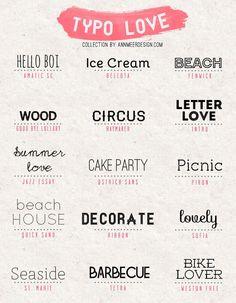 *ann.meer: Lovely Fonts #3