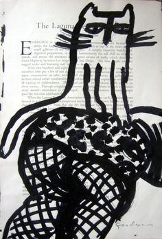 Gary Goodman - ink on book page