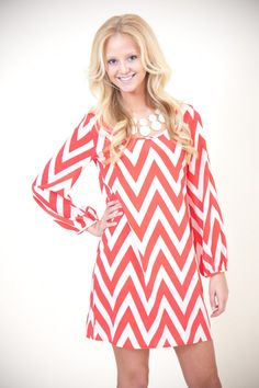 Bright There Chevron Dress - Dresses | The Red Dress Boutique