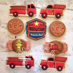 Love these fire truck cookies!