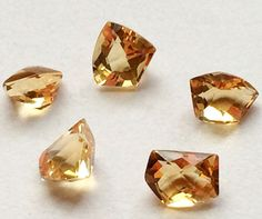 Citrine Cut Stone Lot Fancy Shape Faceted Citrine by gemsforjewels