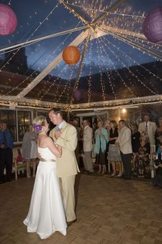 Dancing under the stars - Colorado wedding  Tent by www.AlpineParty.com