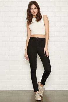 High-Waisted Super Skinny Jeans