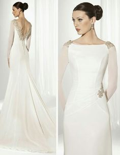 The FashionBrides is the largest online directory dedicated to bridal designers and wedding gowns. Find the gown you always dreamed for a fairy tale wedding. Long Sleeve Wedding, Wedding Dress Sleeves, Modest Wedding Dresses, Elegant Wedding Dress, Bridal Dresses, Wedding Bride, Wedding Gowns, Bride Suit, Dream Dress