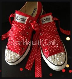 Swarovski   Pearl Mix (shown here on Red Canvas Converse) c4fb76c666