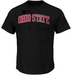 NCAA Ohio State Buckeyes Black School Name T Shirt by J. America $19.95