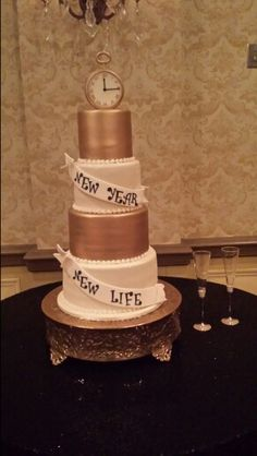 New years eve wedding cake. Kathy and company Easley SC.