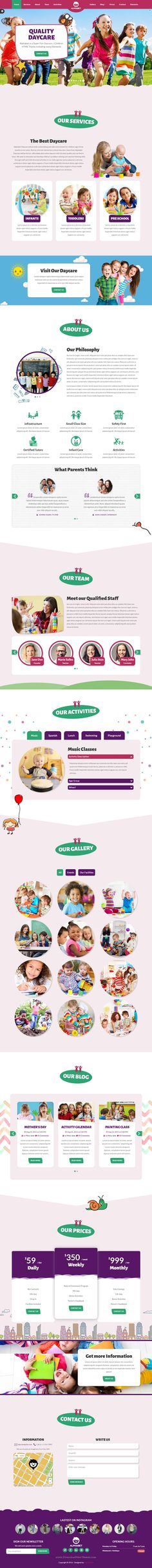 Alphabet is a Fun & Colorful fully responsive One page Bootstrap HTML5 theme made for any Children related #websites. The theme includes many fun elements that are very easy to edit. #preschool #childcare