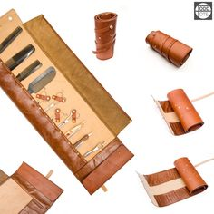 Leather hairdressers tool roll by Toddtote.com