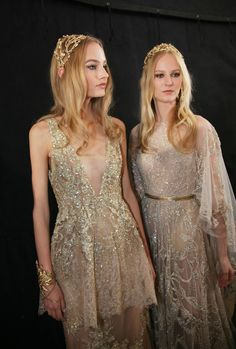 Elie Saab's golden romance for Fall 2015 Couture