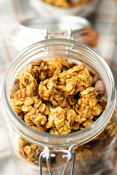 delicious fall breakfast or simply for snacking | pumpkin + chocolate granola - heathersfrenchpress.com