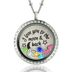 I Love You to the Moon and Back - Floating Charms Locket - Magnetic Pendant Necklace- 6 Charms & 1 Plate A Touch of Dazzle http://www.amazon.com/dp/B00M29WBRW/ref=cm_sw_r_pi_dp_WkwWub1BX83DZ