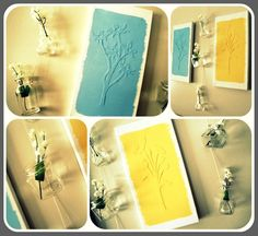 DIY Mod Podge canvas art.