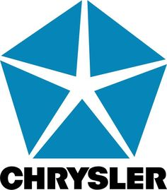 "$2.9 - Chrysler Logo Car Bumper Sticker 5"" X 5"" #ebay #Collectibles"