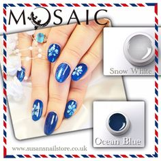 Mosaic gel paints are very high pigmented paints! Most of the colours cover only in 1 coat. Curing time is 1 minute in 36watt UV lamp. 5ml £10.50. Order yours here: www.susansnailstore.co.uk Use code: NEWYEAR to get 10%off from your order.