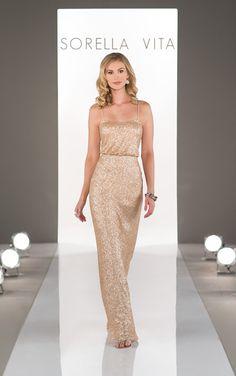 fc6c029061 Gold Sequin Bridesmaid Dress by Sorella Vita