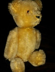 VINTAGE-ANTIQUE-SCHOCO-MOHAIR-JOINTED-TEDDY-BEAR