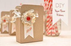 DIY: Paper Flower Ribbons