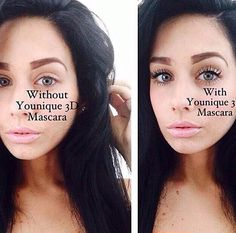 Another amazing before and after using Younique Moodstruck 3D fiber lash mascara. http://www.youniqueproducts.com/MDMakeupandBigLashes