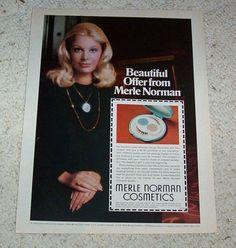 1974 Ad Page Merle Norman Cosmetics Compact Pretty Girl Make Up Print Advert | eBay